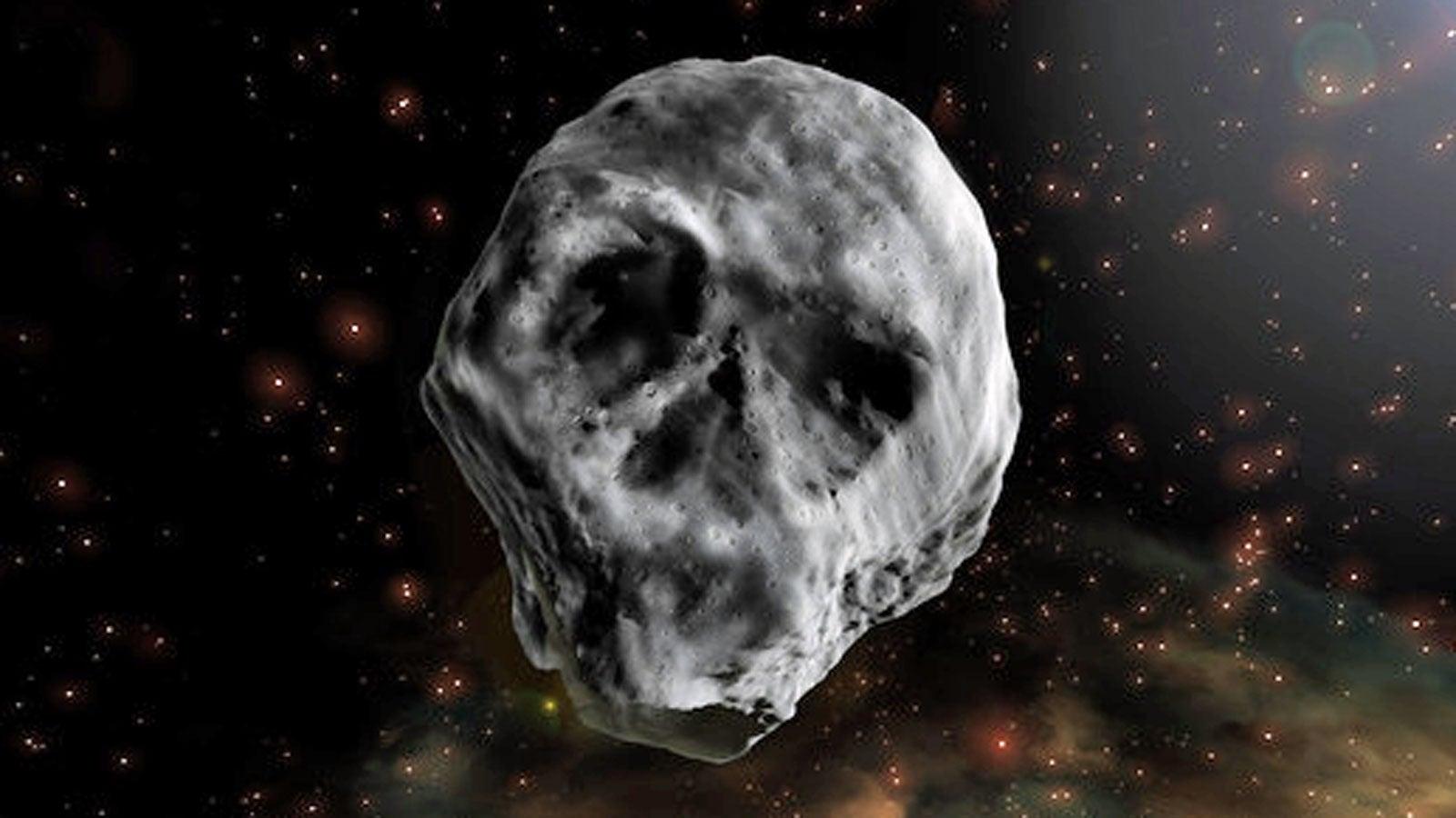 Totenkopf-Asteroidnähert sich um Halloween der Erde