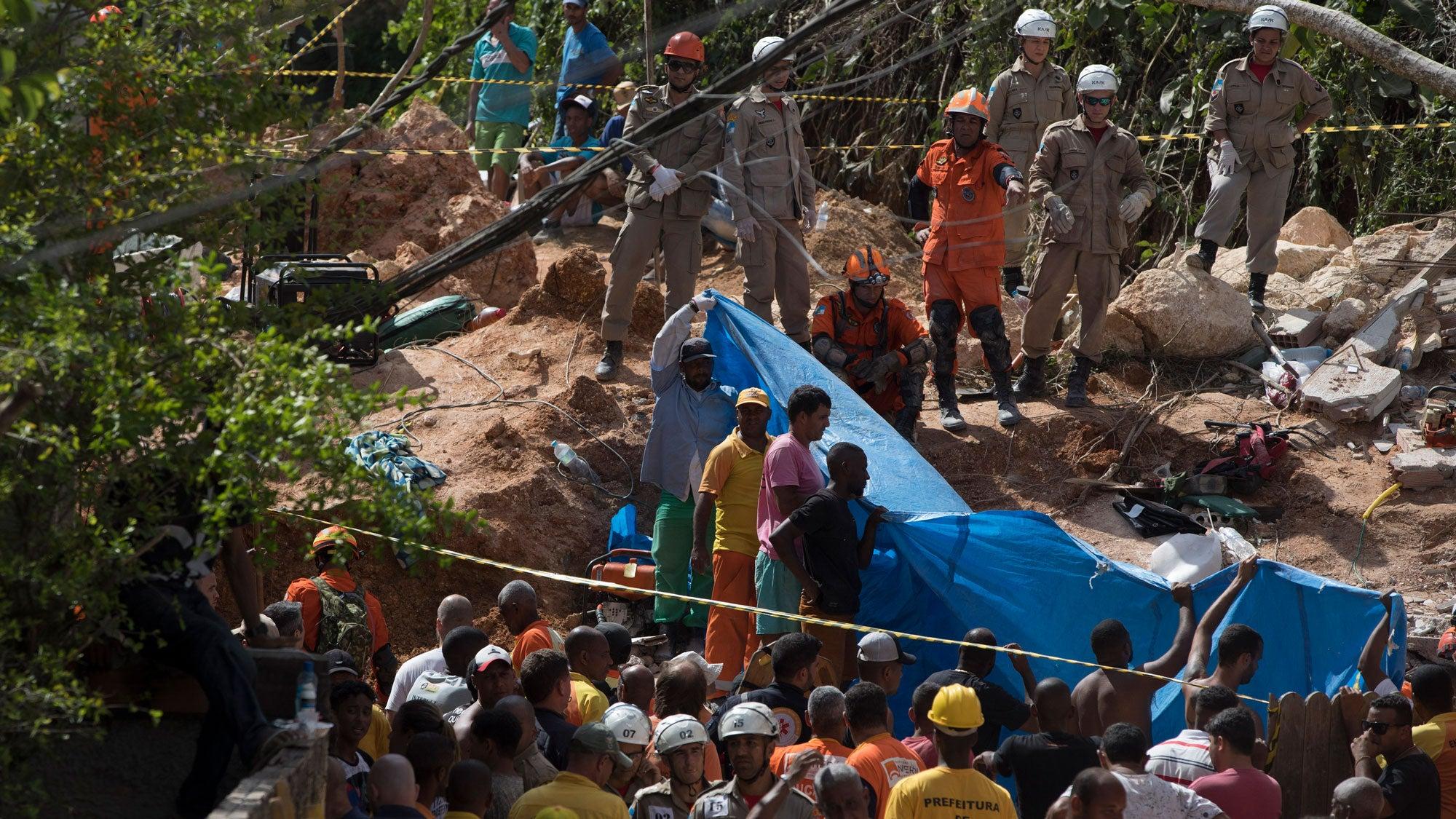 Unwetter in Brasilien: Mindestens 14 Menschen sterben durch Erdrutsch