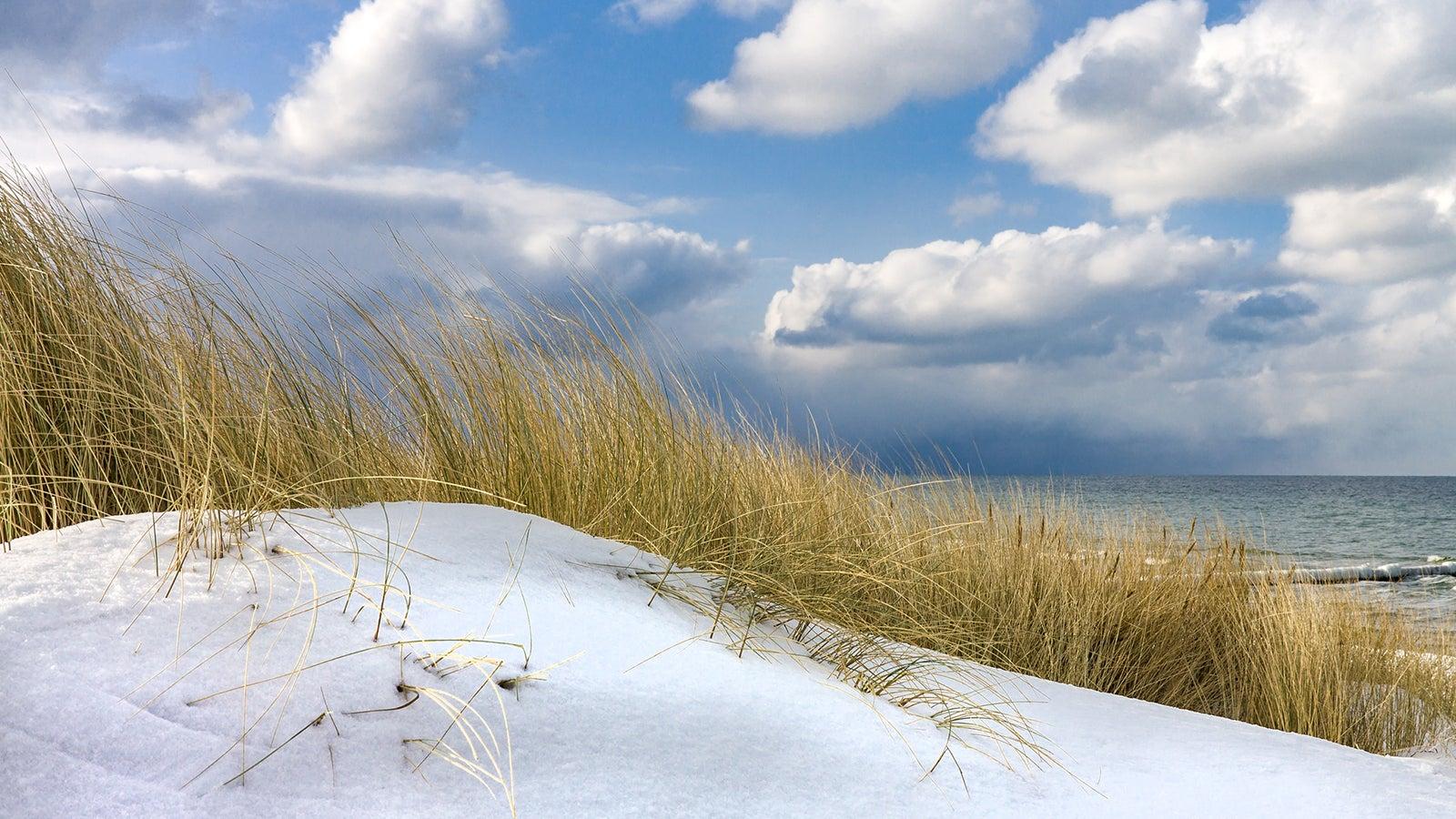 Lake-Effekt: So entsteht der plötzliche Schneefall an der Ostsee