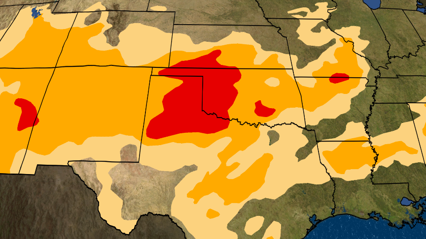 Southern Plains Drought Now Considered 'Dire'; Four Months and Counting Without Rain or Snow in Parts of Texas, Oklahoma