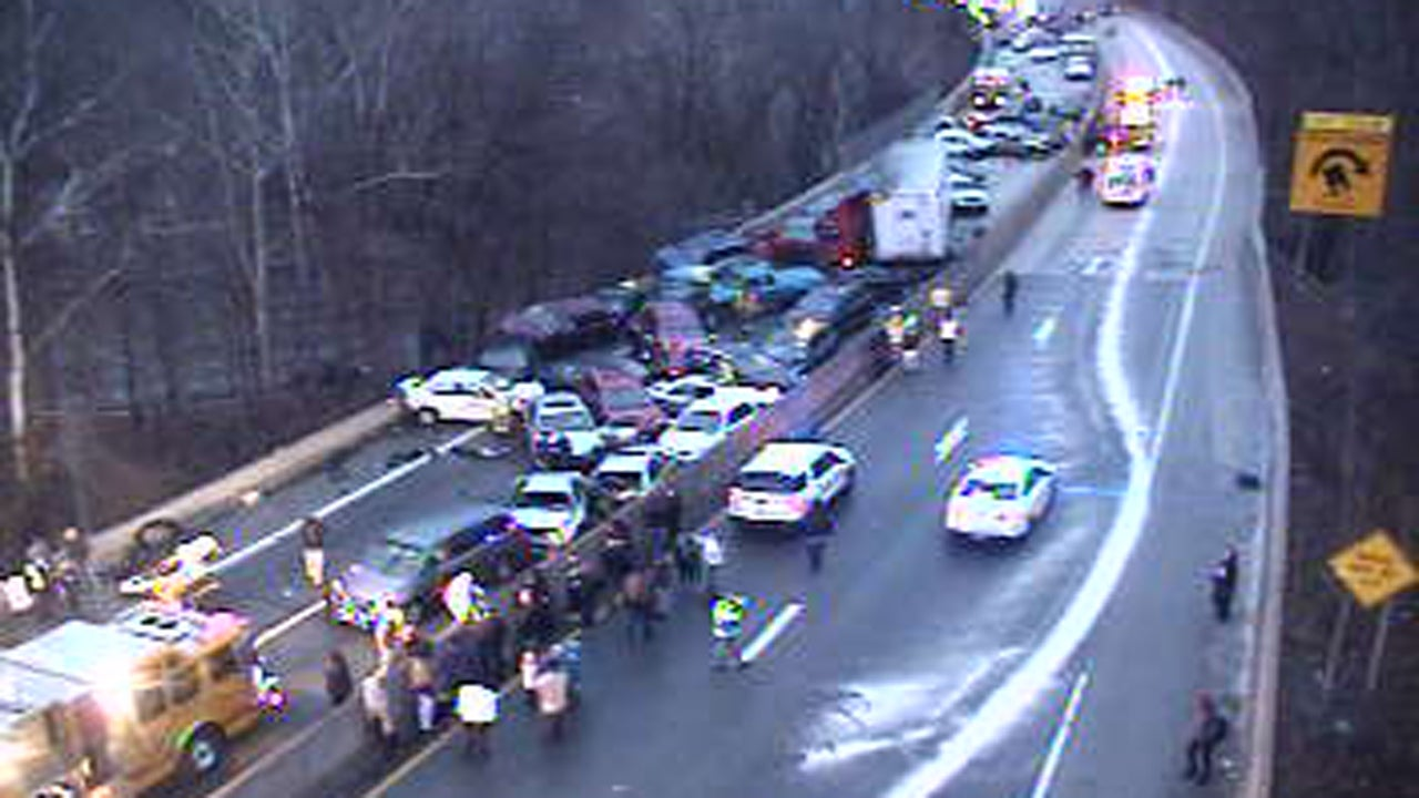 Today East Car Accident On Mass Pike