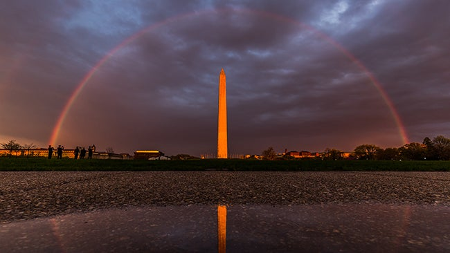 Double Rainbow Arches Over D C In Amazing Photos The