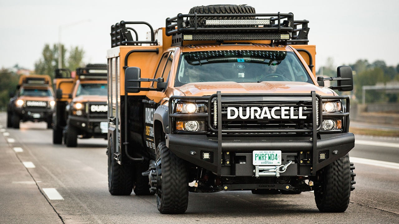 duracell truck provides power in san francisco bay area  sponsored