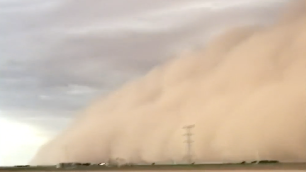 Dust Storm Swallows Farmer and Tractor in Texas