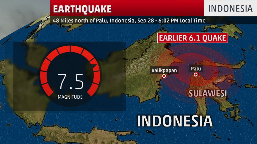Indonesia Earthquake, Tsunami Causes Major Damage on Sulawesi Island | The Weather Channel