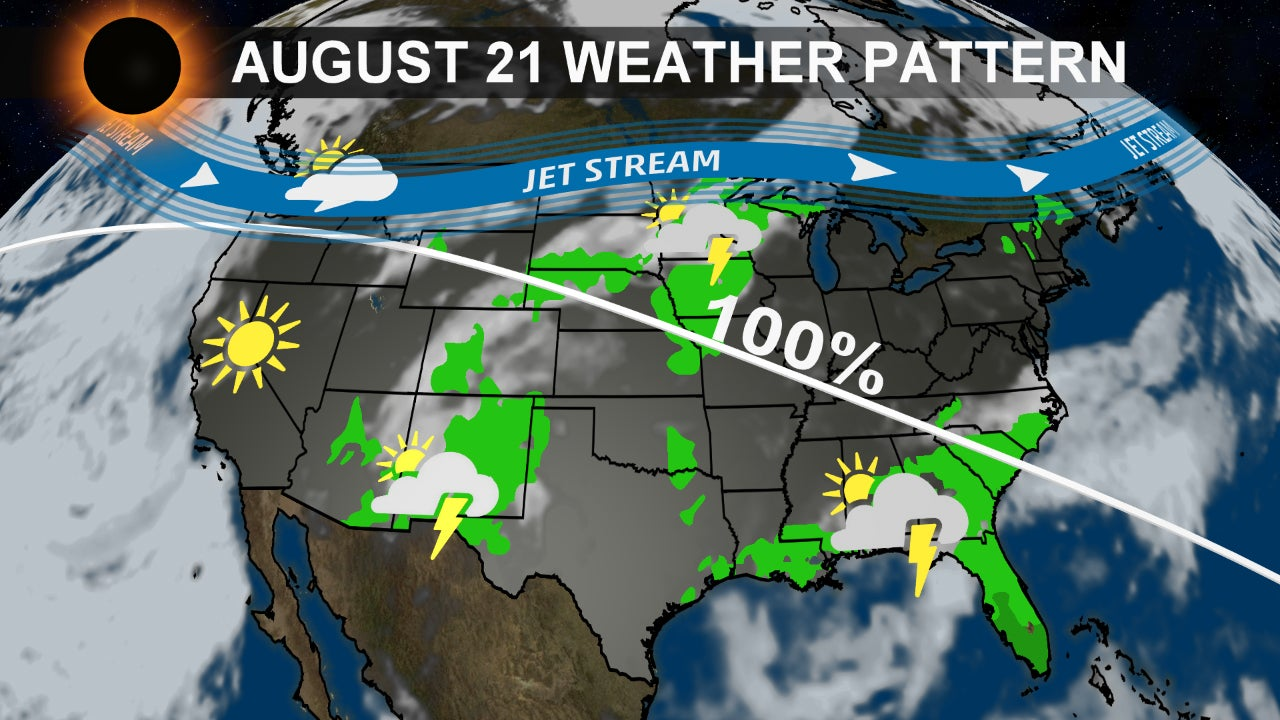 Total Solar Eclipse Weather Forecast Will Your View Be Blocked The Weather Channel