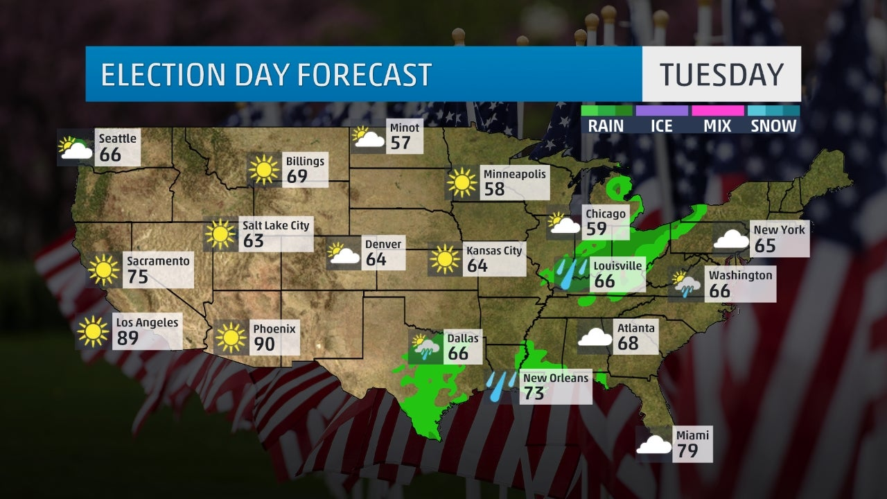 Election Day Forecast Could Weather Have An Impact The Weather Channel