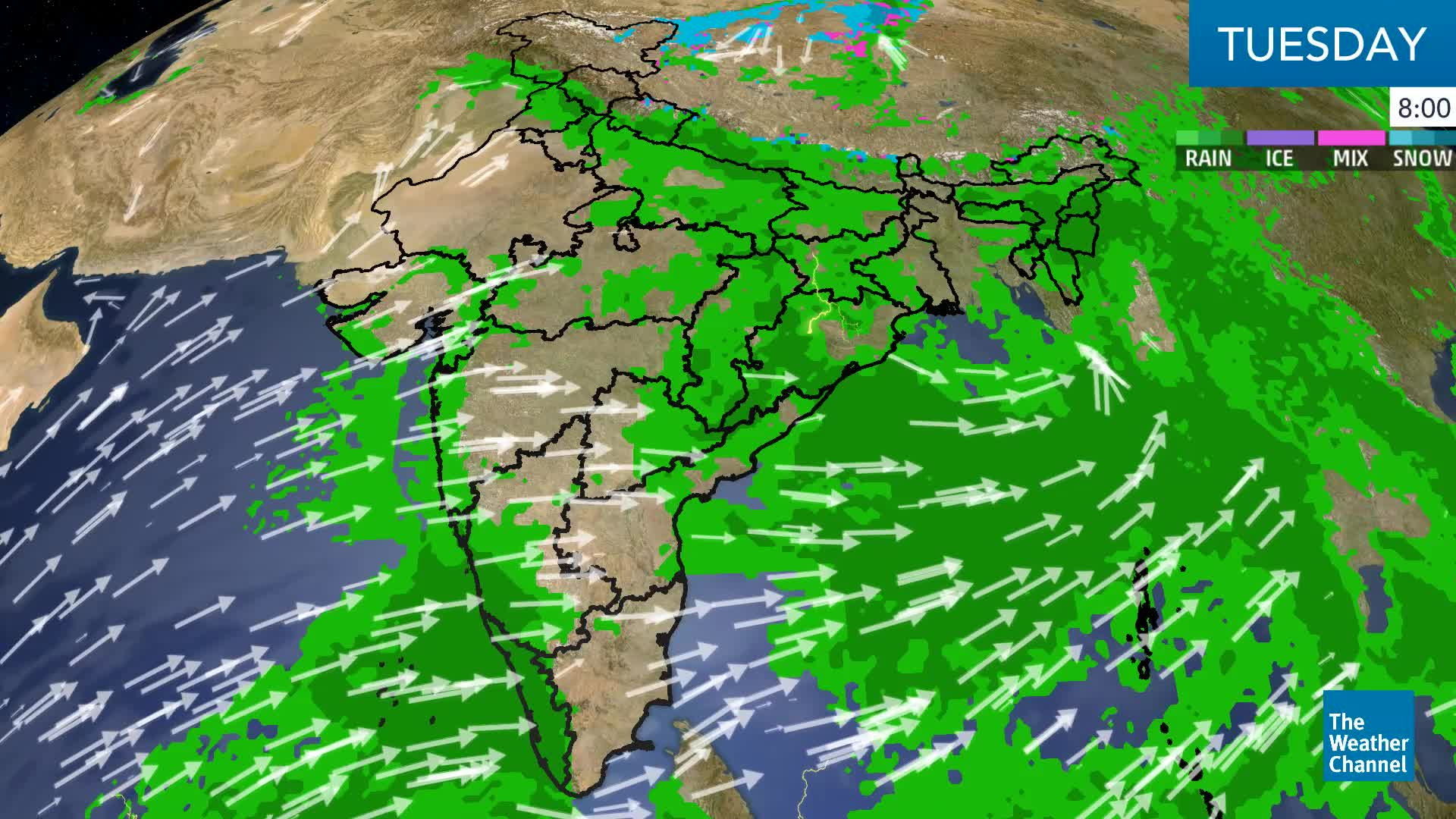 Tuesday Weather Map.Heavy Rain To Continue In Kerala Today The Weather Channel