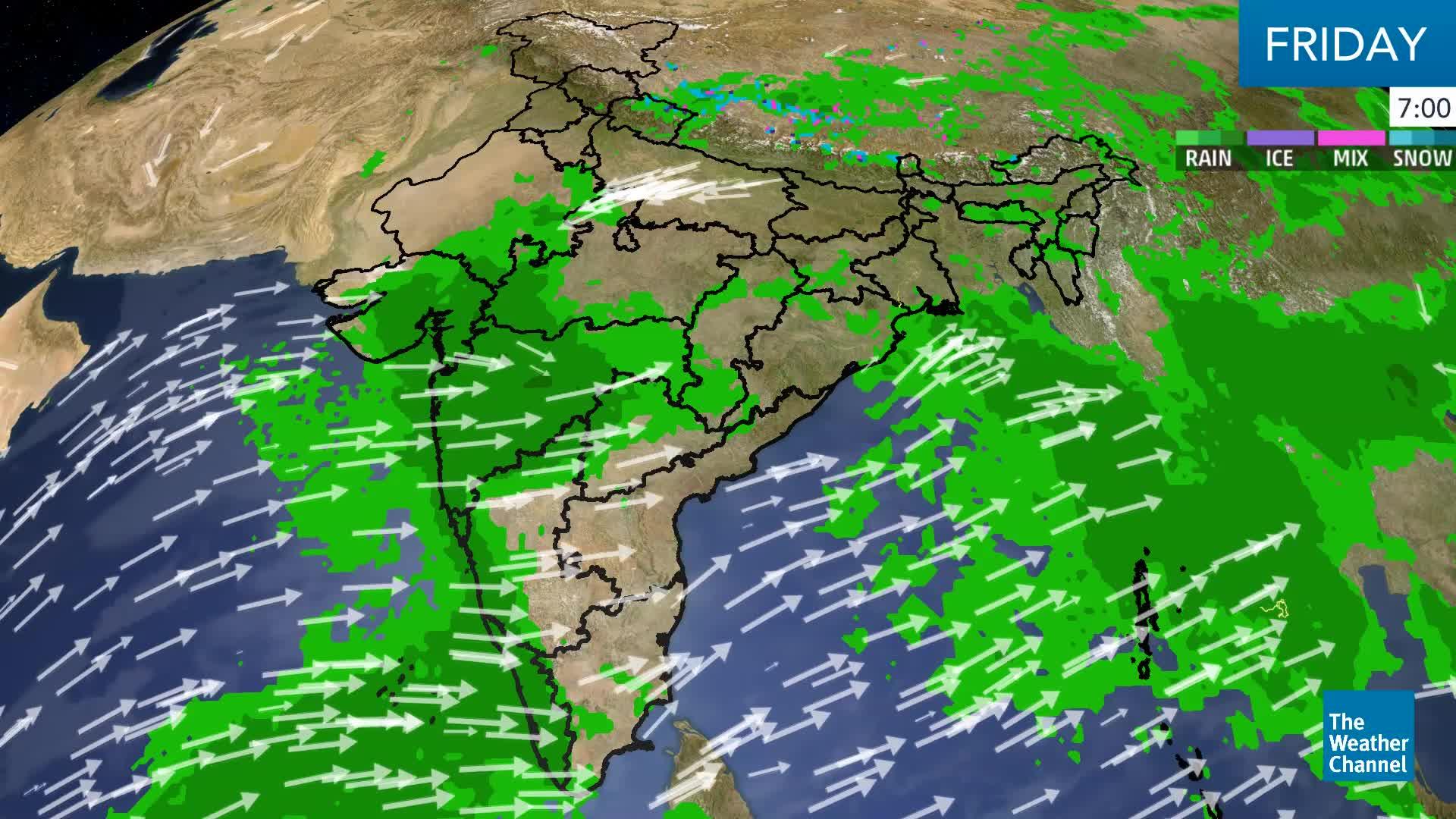West-Moving Depression Spells Heavy Rain, Floods in Gujarat, Maharashtra