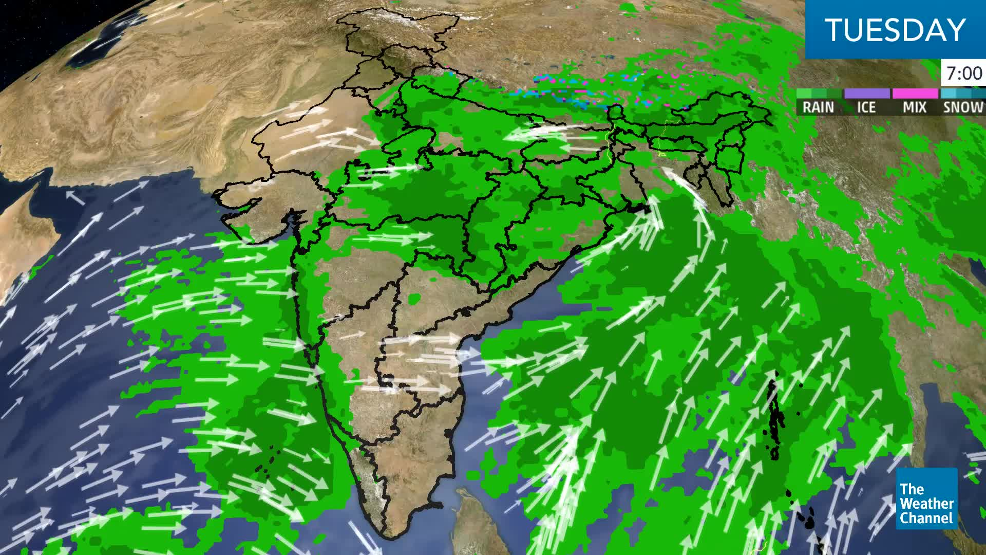 Large Parts of India to Get Heavy Rain Today | The Weather