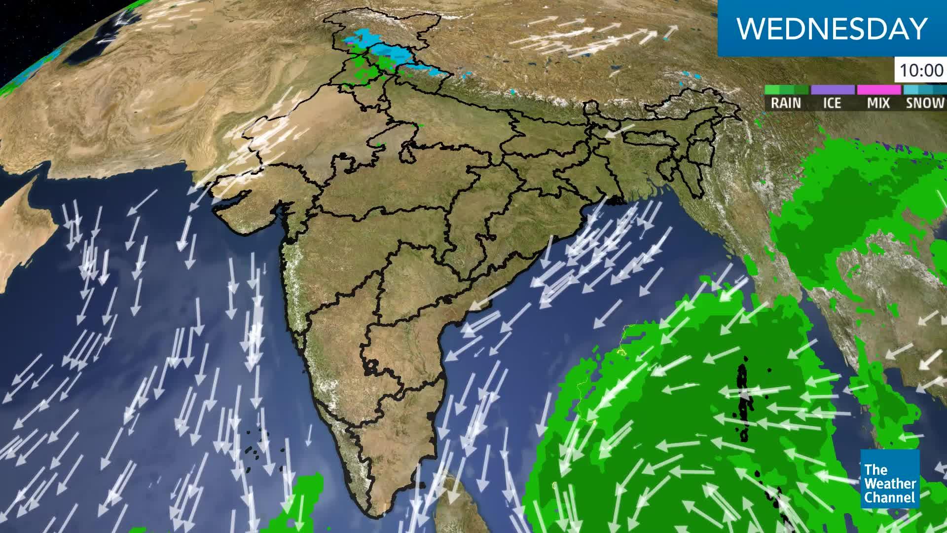 Western Disturbance Brings Snow, Rain to Northwest Himalayan States