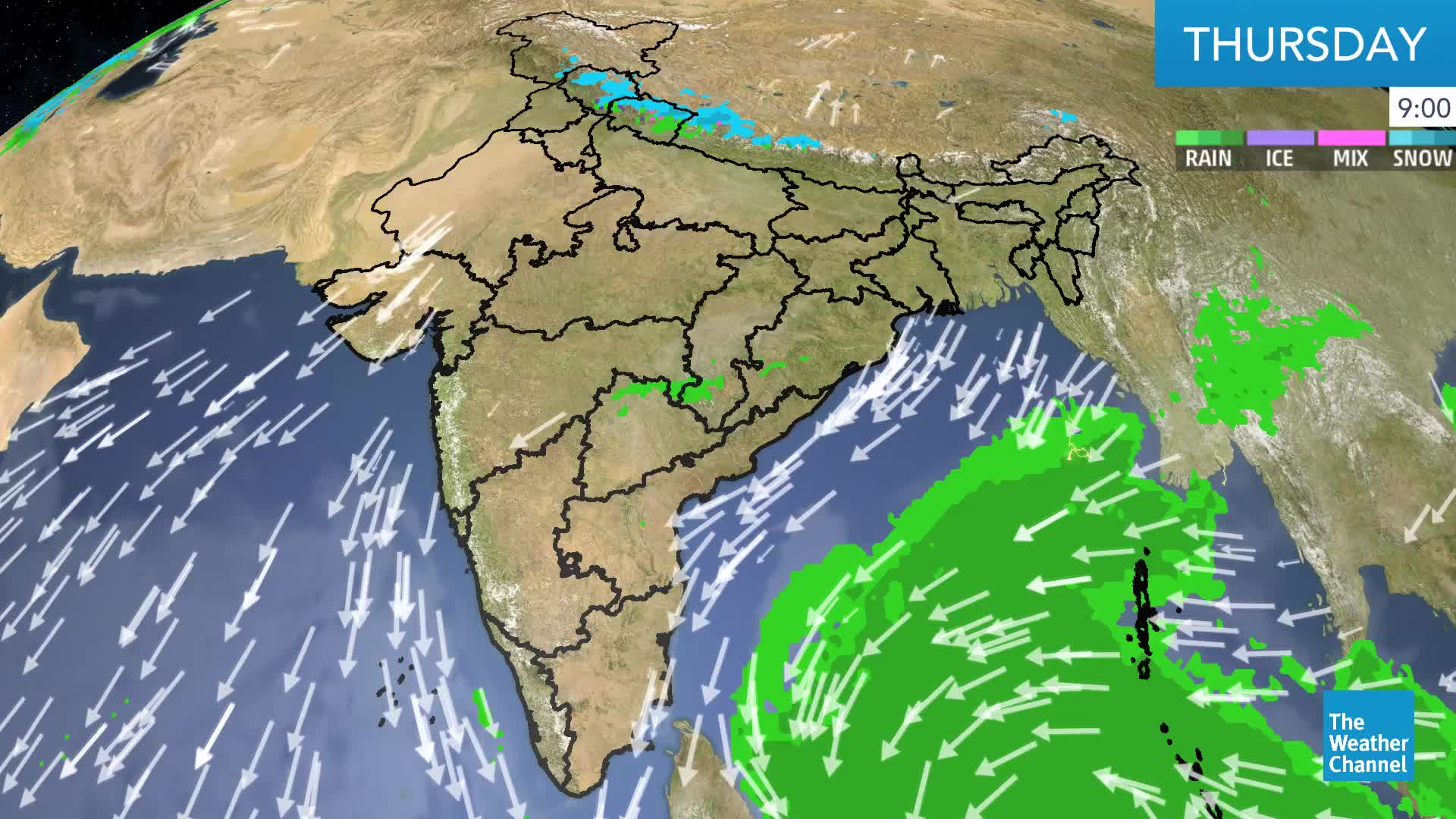 Bay of Bengal Depression to Bring Strong Winds, Rain to Tamil Nadu, Andhra Pradesh from Friday