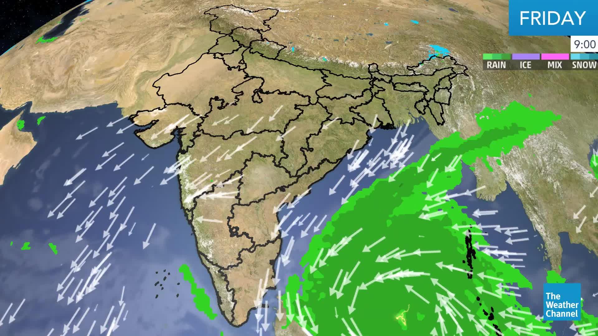 Cyclone Phethai Winds Towards Andhra Pradesh; Landfall on Monday