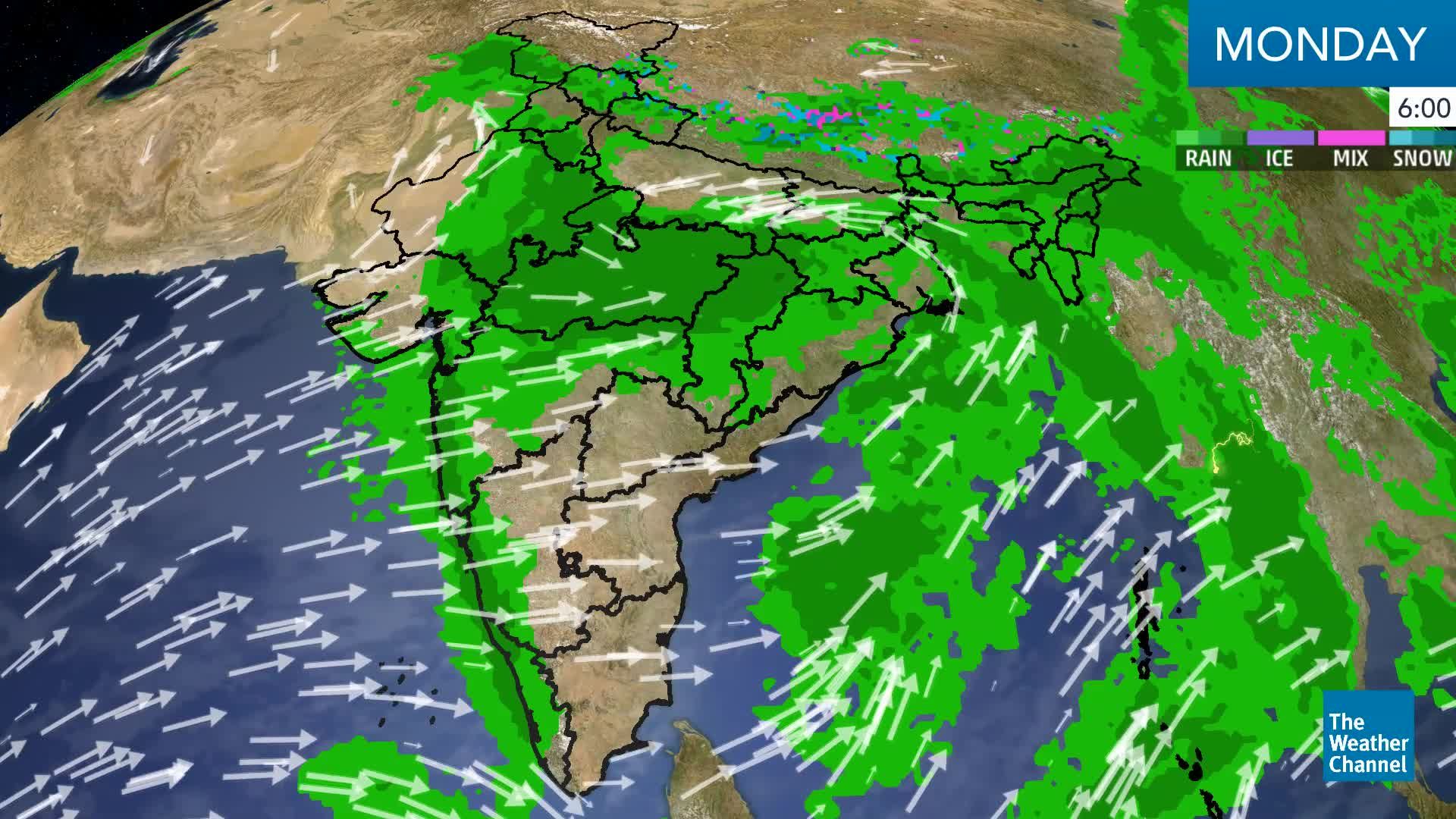 Monsoon Depression Continues To Bring Heavy Weather To Eastern India