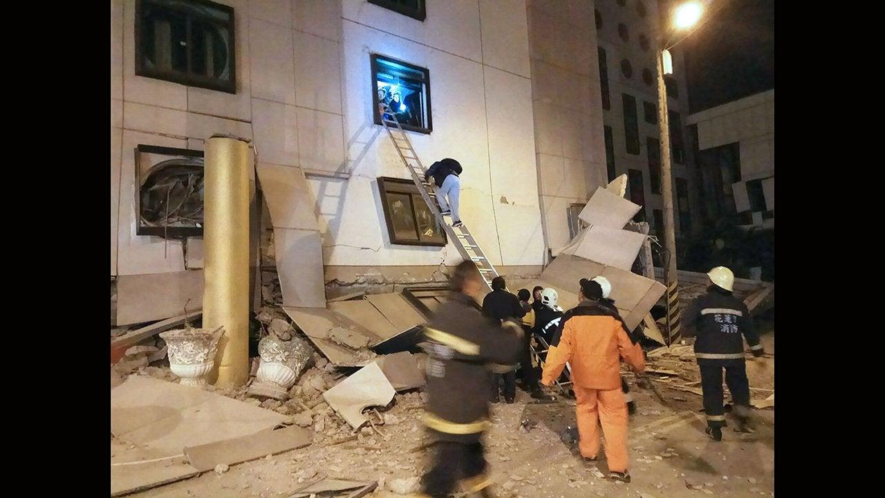 FOTOS: Terremoto de magnitud 6.4 en Taiwán