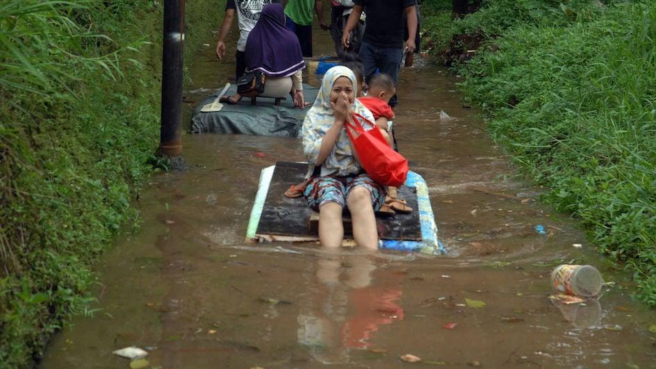Dramáticas inundaciones en Yakarta
