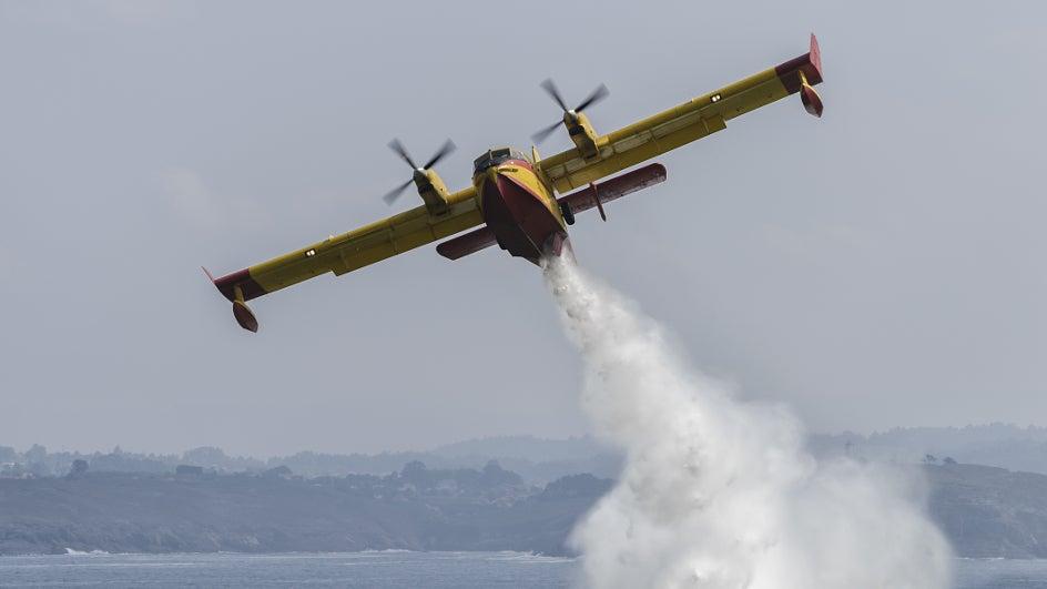 Aviones italianos contra los incendios que arrasan Suecia