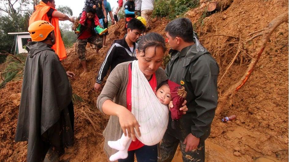 Los mortales corrimientos de tierra del tifón Mangkhut