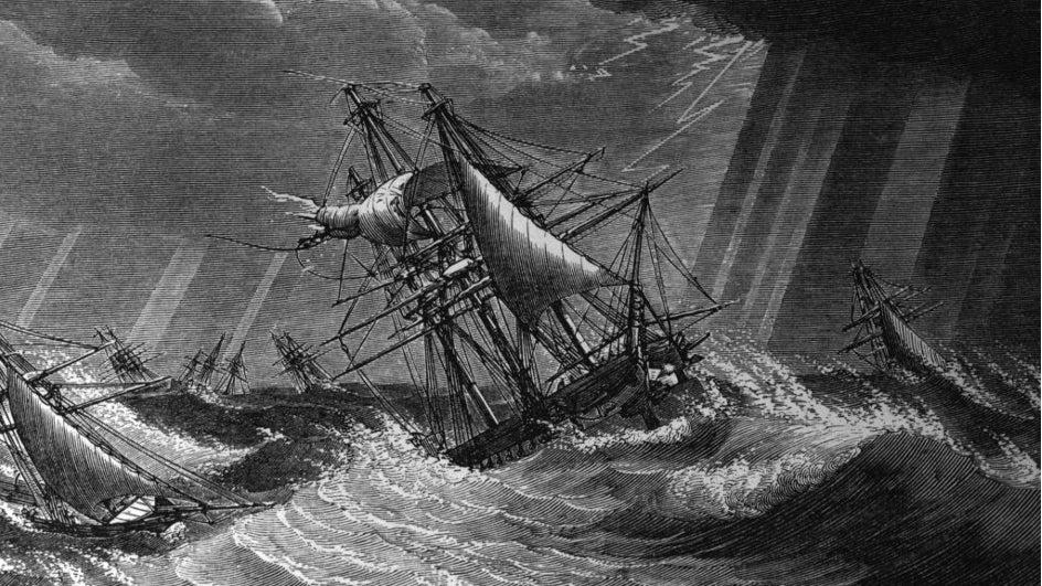 Así fue el gran huracán de 1780 con 22.000 muertos