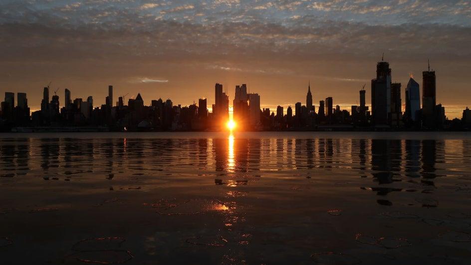 Manhattanhenge, la puesta de sol más espectacular en Nueva York