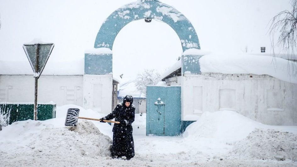 Así vivió Moscú su mayor nevada en 60 años