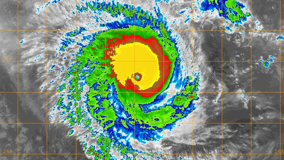 Tropical Cyclone Eunice Reaches Category 5 Status The