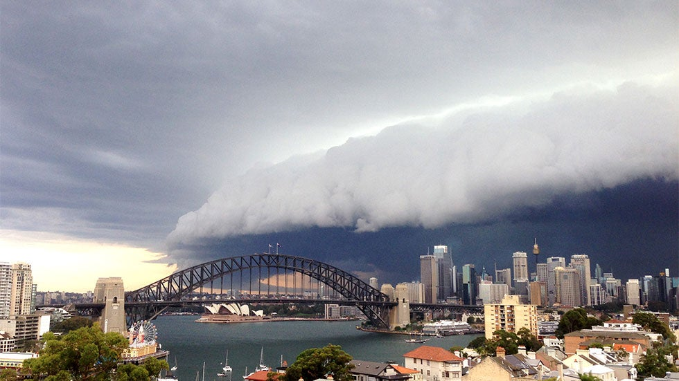 thunderstorms produce scary skies in sydney  australia