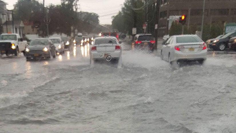 breaking  heavy rain leads to flooding in long island  new