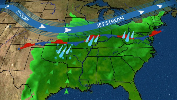 Multiple Rounds of Thunderstorms Could Cause Flooding From Southern Plains to Ohio Valley and Mid-Atlantic This Week