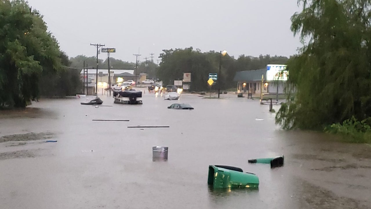 texas flooding kills 1  washes out bridge  evacuations