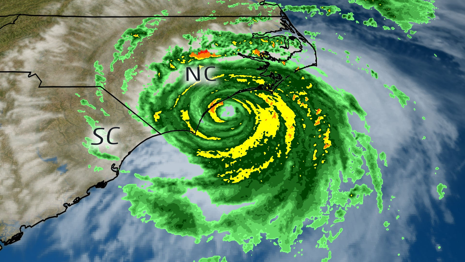 hurricane florence has made landfall near wrightsville