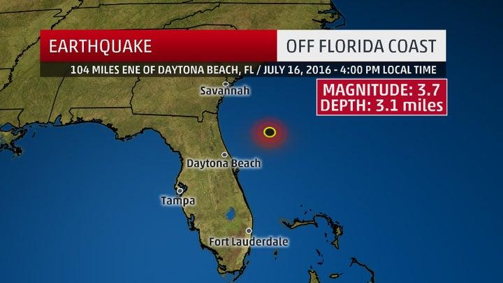 rare earthquake strikes off the coast of florida