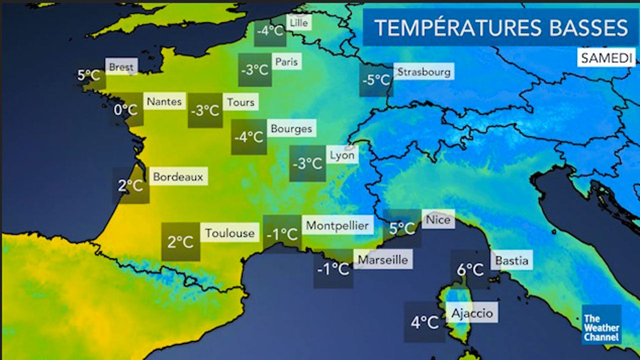 La météo du samedi 15 et dimanche 16 décembre