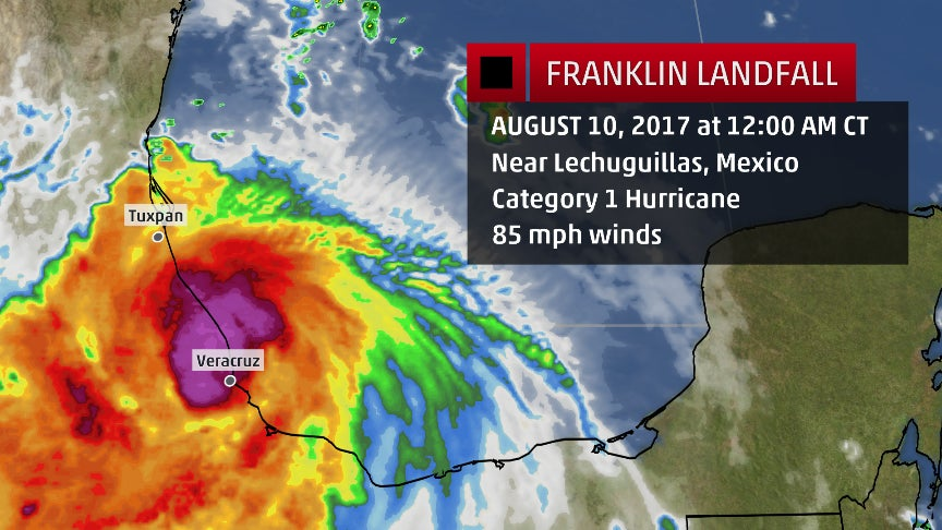 Hurricane Franklin Brought Heavy Rain To Mexico Recap The Weather Channel