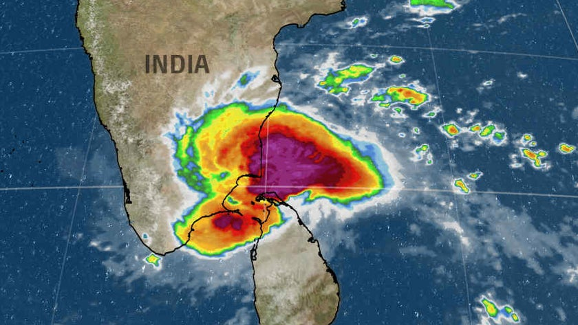 Tropical Cyclone Gaja Brings Flooding and Mudslide Threats to Southern India