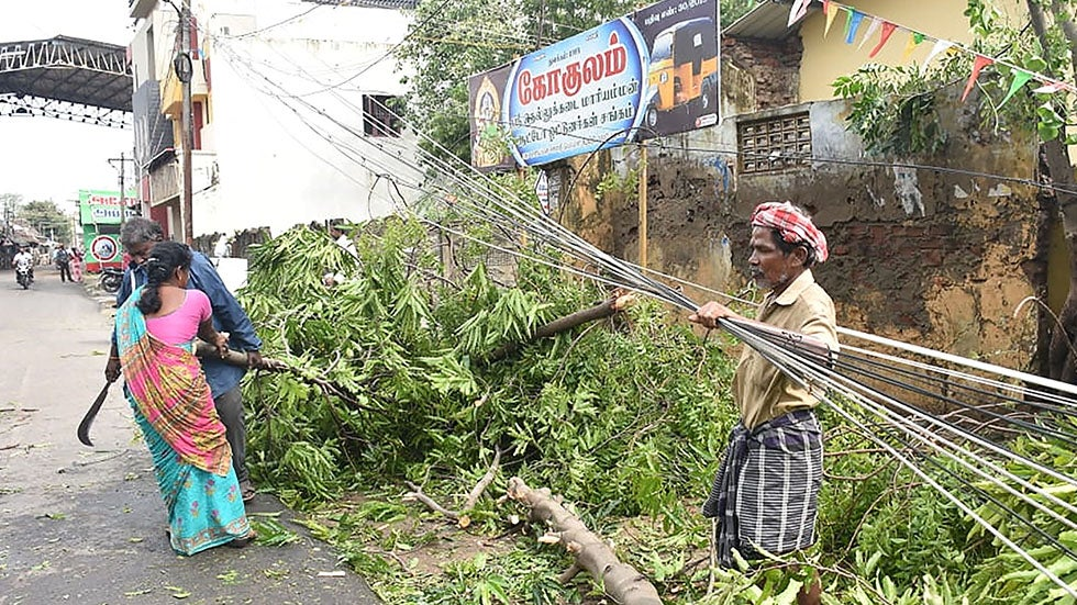 Tropical Cyclone Gaja Kills 33, Damages Homes in Southern India
