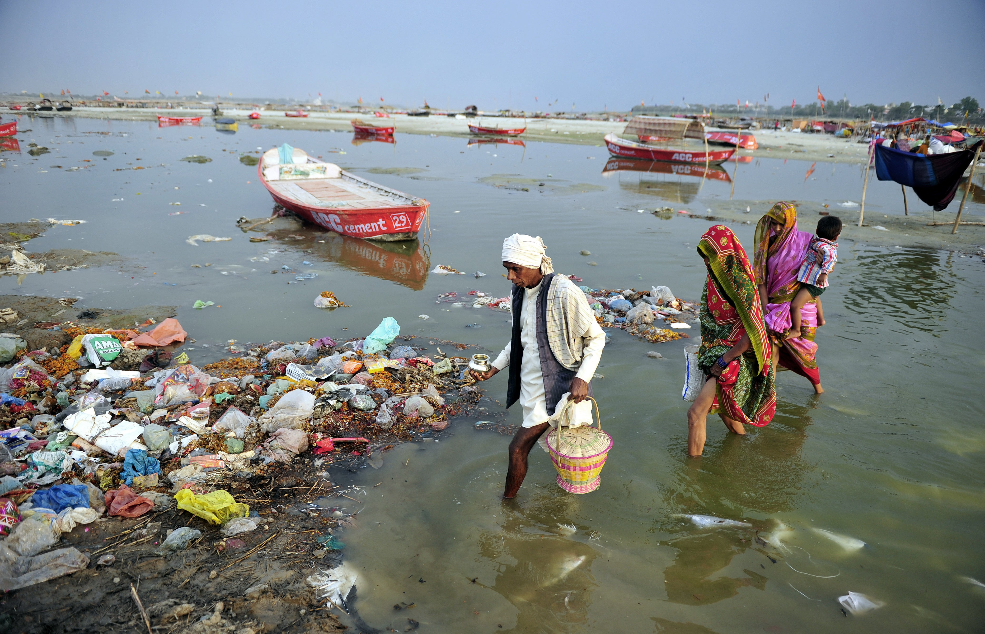 """ganga pollution """"ninety per cent of the pollution of the ganges is from untreated sewage,'' says mishra ''only the other 10 per cent is from human behaviour"""" many locals disagree."""