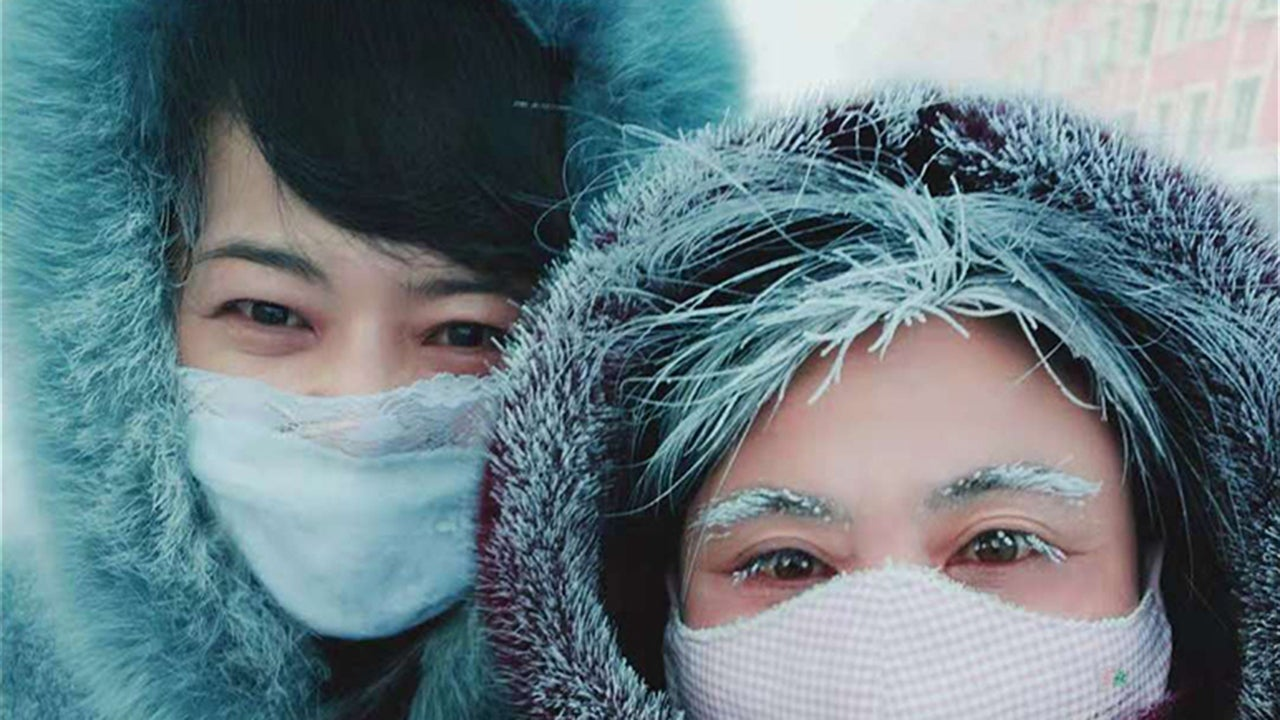 Extreme Cold in China Sparks Blue and Orange Alerts, Freezes Eyelashes and Eyebrows (PHOTOS)