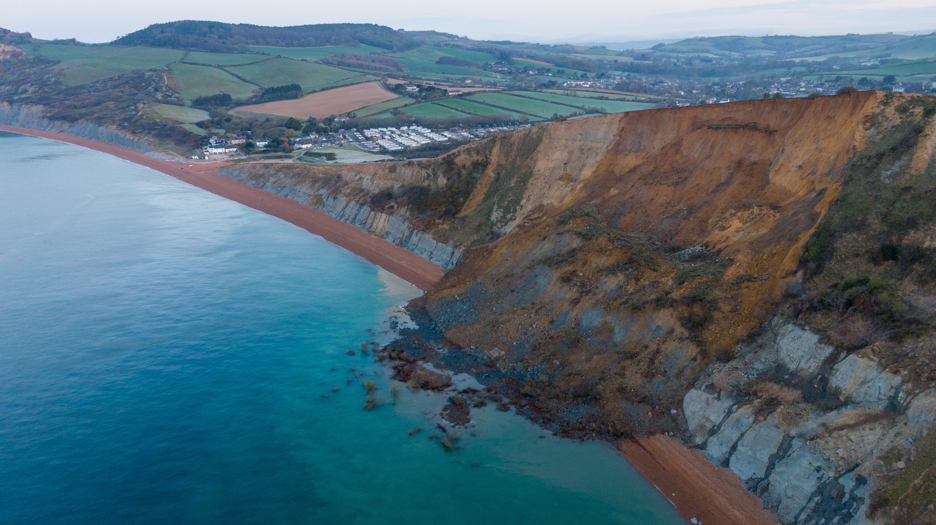 Aerial Photos Show Biggest Cliff Fall in 60 Years in U.K. | The Weather Channel - Articles from The Weather Channel | weather.com