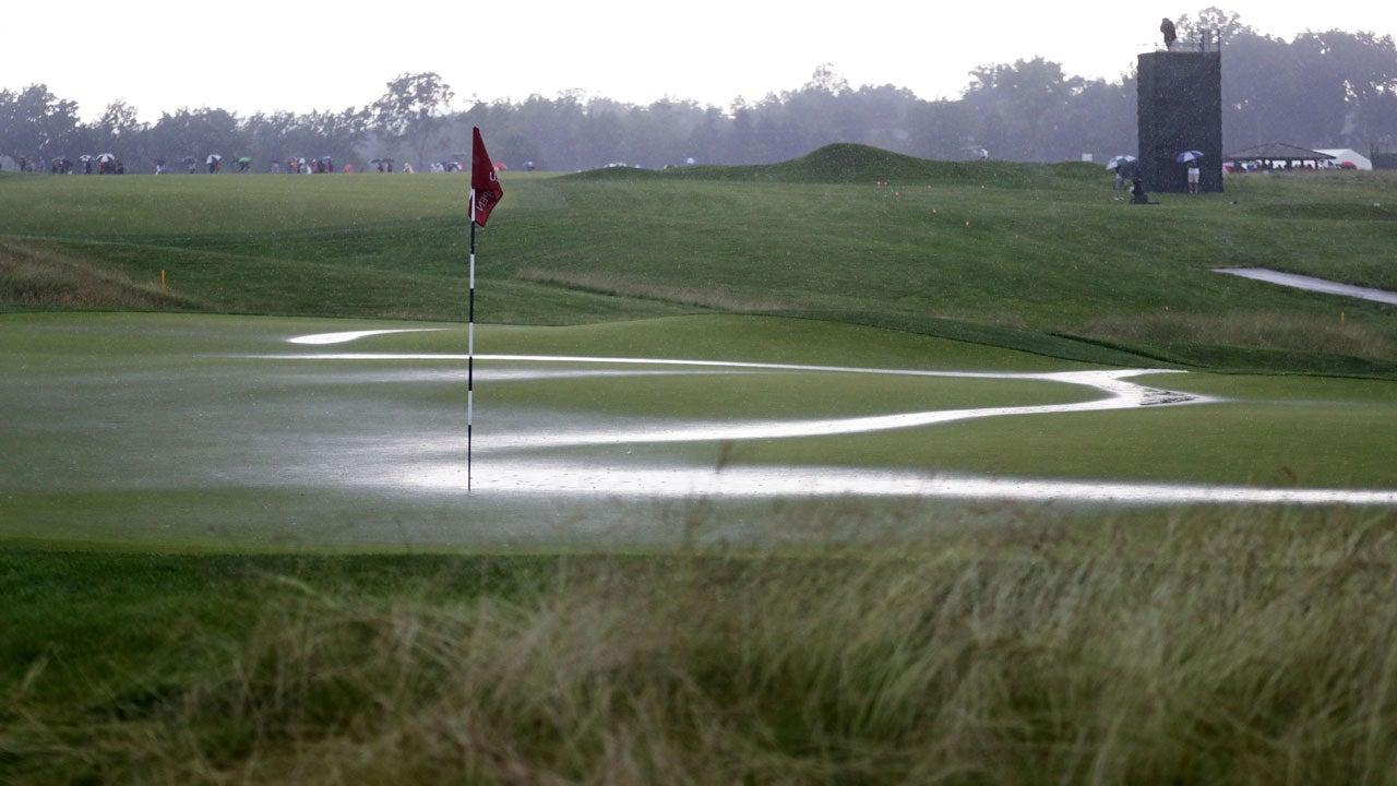 2016 u s  open endures lengthy weather delays as storms