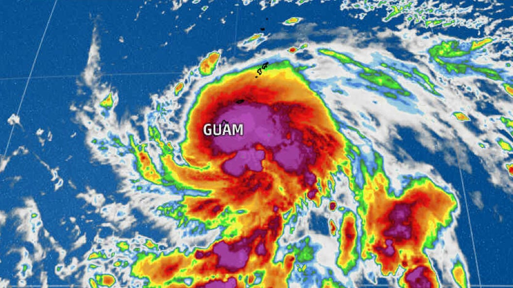 west pacific tropical storm maria forms near guam  why