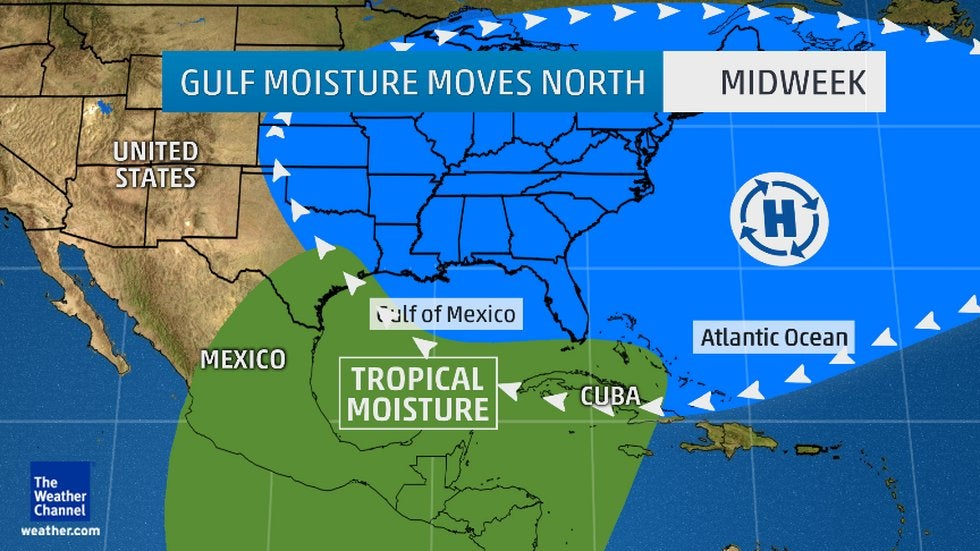 heavy rain  flooding possible for gulf coast  southern