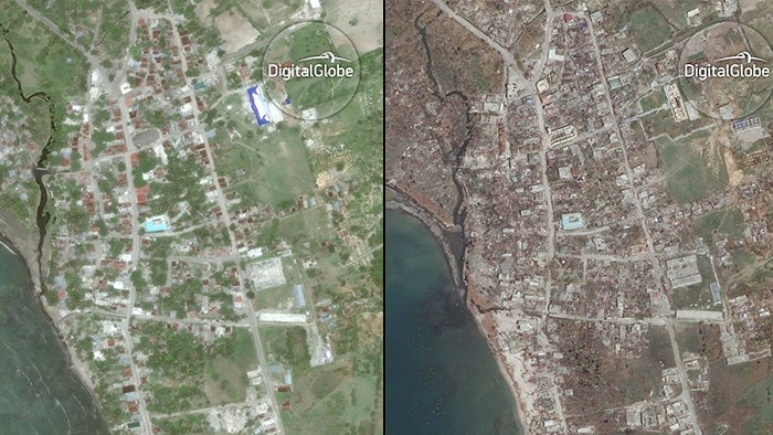 before and after satellite images show haiti u0026 39 s catastrophic damage from hurricane matthew