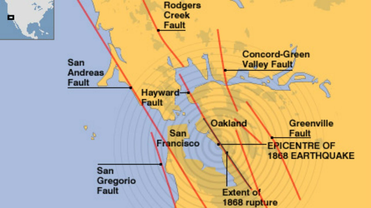 Two Faults Holding Hands Could Unleash Massive Earthquake In - Hayward fault line map