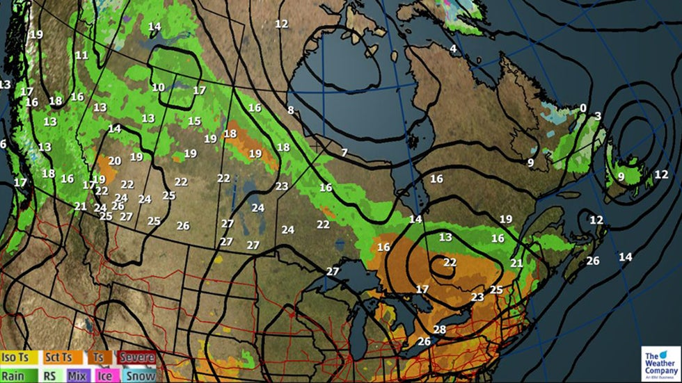 Severe Storms for Toronto, Montreal and Ottawa; Coastal Flooding for Quebec City