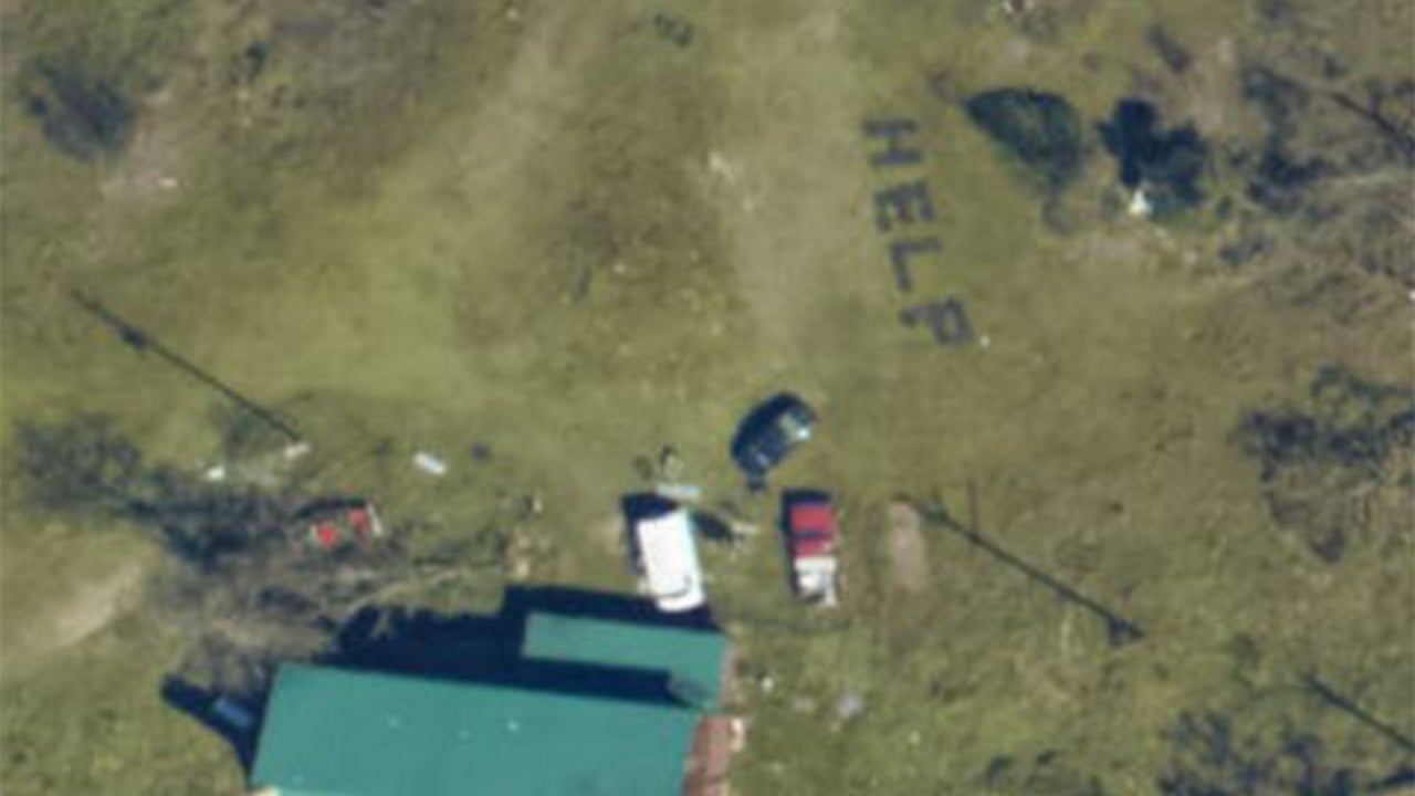 Florida Couple Rescued After Niece Finds Satellite Image of H-E-L-P on Lawn