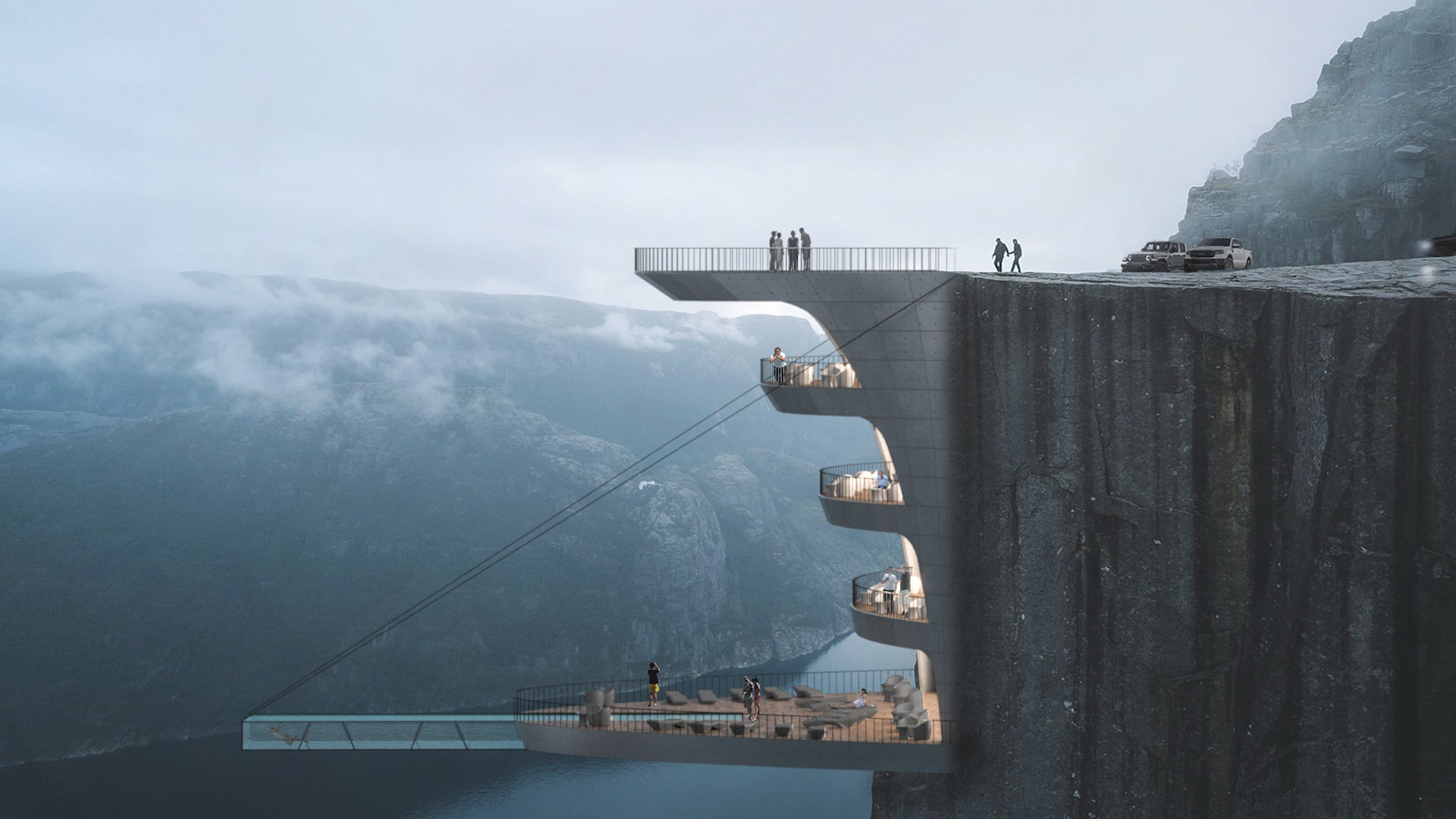 Insane Infinity Pool Designed to Hang Over Cliff in Norway