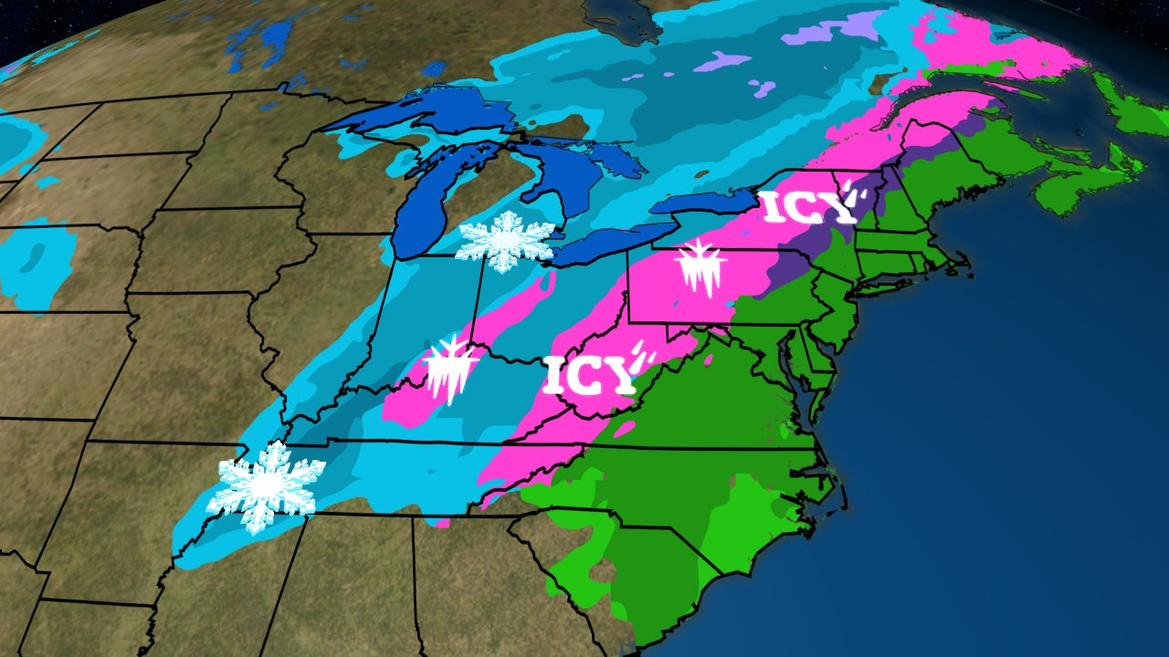 Winter Storm Hunter to Spread a Mess of Snow, Ice From the Mississippi Valley to Northern New England