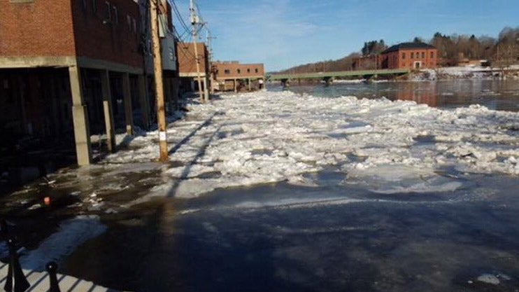 ice jam threat continues in the northeast this week