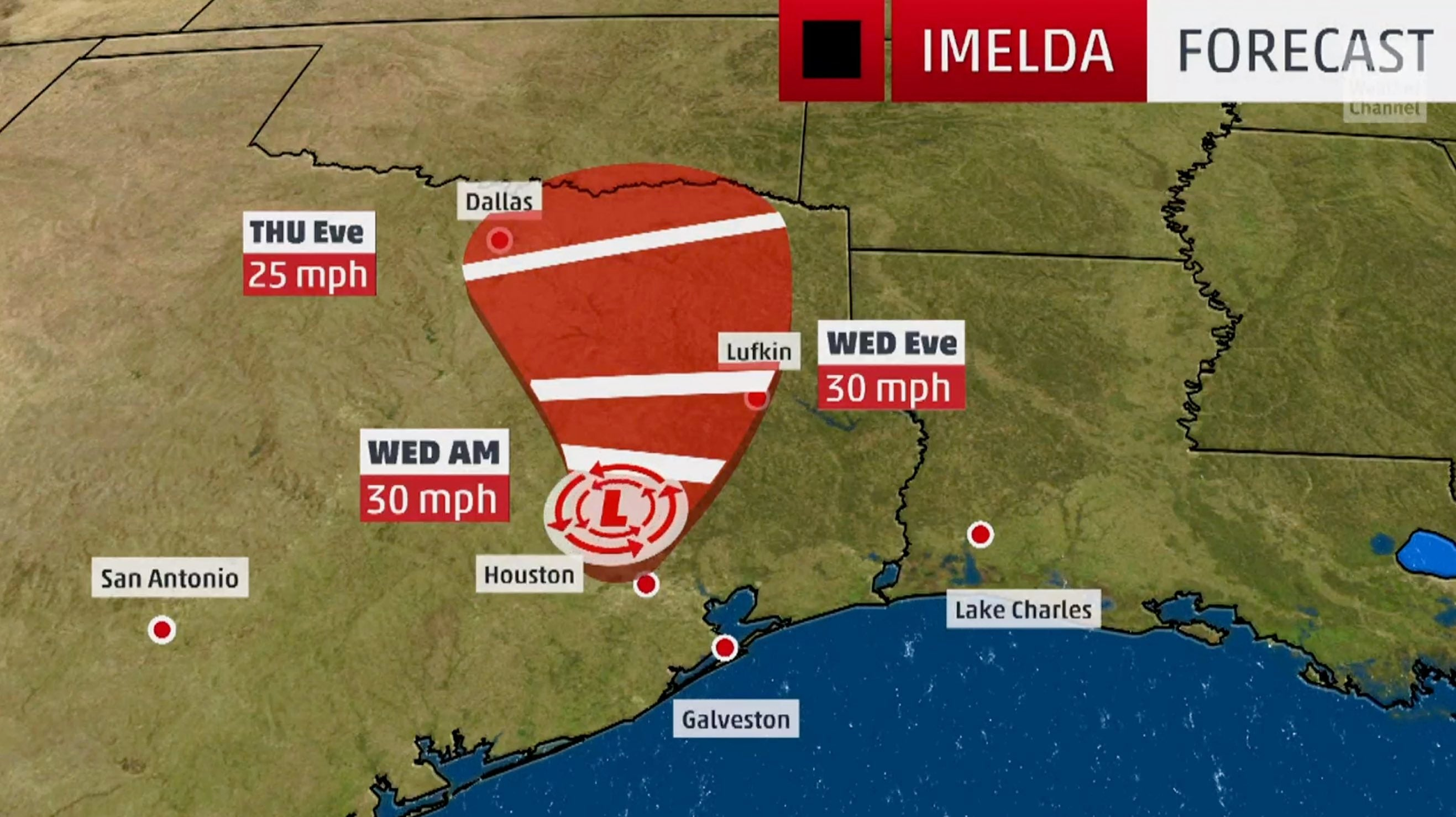 Tropical Depression Imelda is drenching the Southeast Texas coast, prompting flash flood warnings.